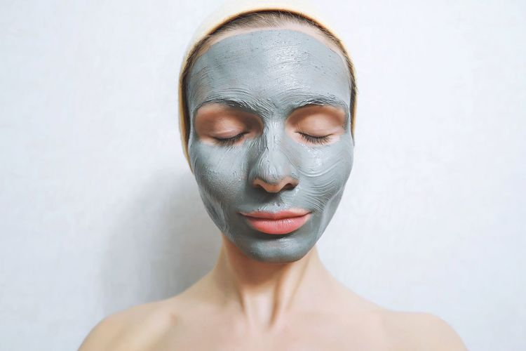 Facial mask Body Care And Beauty Eyes Closed  Face Mask Facial Mask Facial Mask - Beauty Product Headshot Human Face Mask Natural Natural Cosmetics Portrait Preparation  Skin Care Wellness Young Women