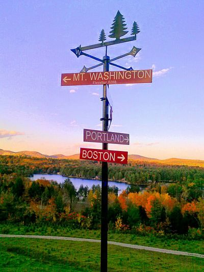 Maine Beautiful Nature Signage Which Way Did He Go??? Autum Leaves.<3 Pond Life What A View!
