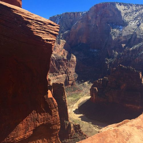 Scenic View Of Cliffs At Canyon