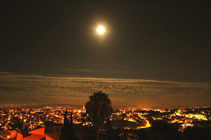 Tangier Tangier City Morocco Night Lights Night Photography Night View Enjoying The View The View From My Window Full Moon From The Rooftop
