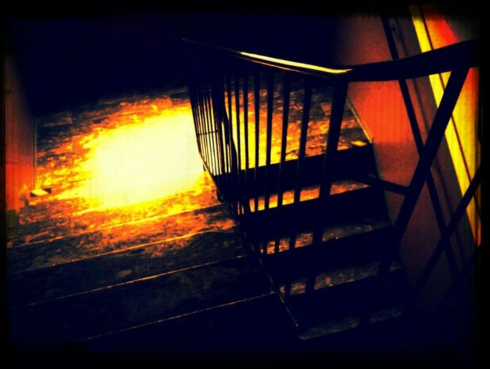 I think this is the stairs down to Hell!? Hot Fire And Flames To Hell Do Not Go Down...