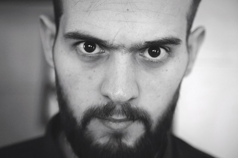 Portrait Man Blackandwhite Eyes Angry my Brother