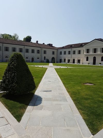 Architecture Front Or Back Yard No People Building Exterior History Built StructureLuxury Grass Outdoors Day Sky Sunlight Italian Garden Piedmont Italy Historic Building Langhe