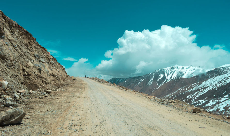 Himalayas India Ladakh Beauty In Nature Blue Blue Sky Cloud - Sky Cold Temperature Day Landscape Mountain Nature No People Outdoors Road Scenics Sky Snow The Way Forward Tranquil Scene Tranquility