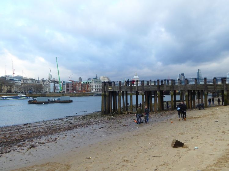 Thames Beach  Thames River Thames Low Tide River View Beautiful Scene Tranquil Scene Riverside Bridge Landscape Jetty
