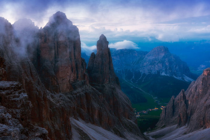 Corvara in Badia - Corvara, Italy DOLOMITES Beauty In Nature Cloud - Sky Day Landscape Mountain Mountain Range Nature No People Outdoors Panoramic Physical Geography Range Scenics Sky Snow Tranquil Scene Tranquility Travel Destinations