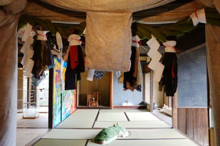 EyeEm Selects Hanging Door Indoors  No People Architecture Day Arts Culture And Entertainment Ogijima Art House Japan