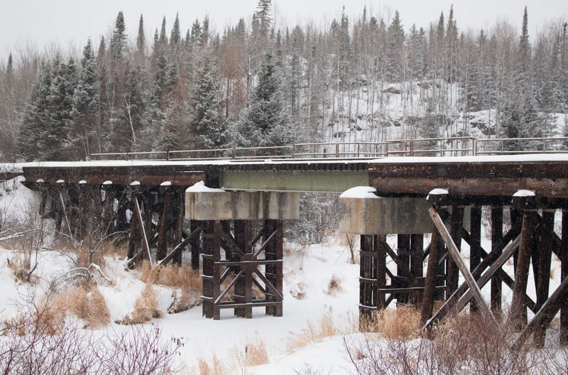 Architecture Beauty In Nature Bridge Cold Temperature Day Diminishing Perspective Landscape Landscapes Nature Ontario, Canada Outdoors Railroad Railroad Bridge Railroad Track Season  Snow Snow Covered Snowing The Week On EyeEm Train Winter Winter Winter Trees Winter Wonderland Wintertime