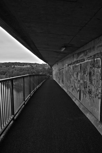 Architectural Column Architecture Bridge - Man Made Structure Built Structure Connection Day Diminishing Perspective Empty Engineering Long Narrow No People Sky Surface Level The Way Forward Tunnel Vanishing Point Walkway