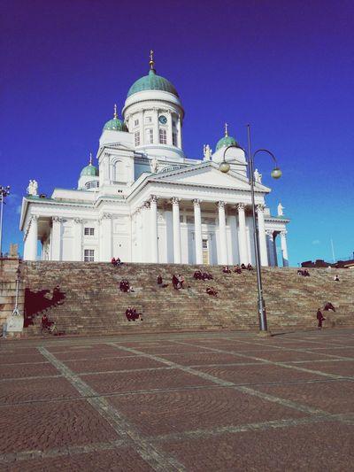 Square Sightseeing Church Helsinki