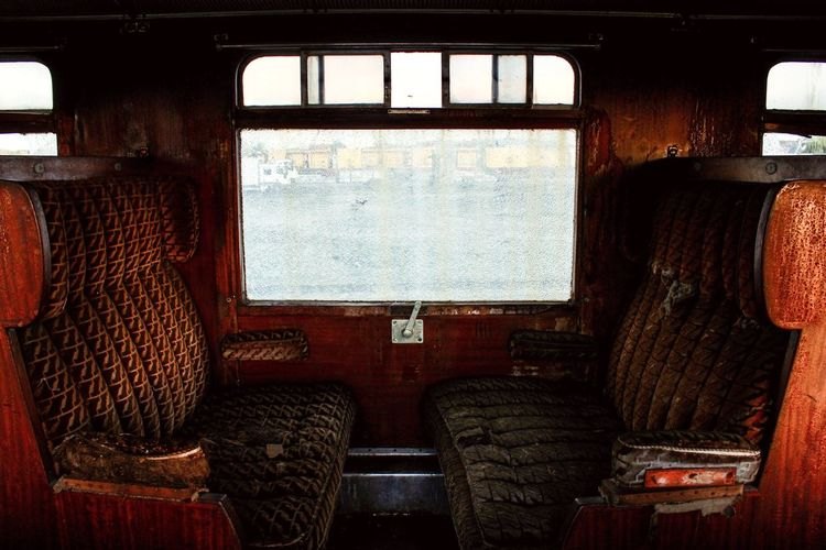 Vehicle Interior Vehicle Seat Public Transportation Abandoned Abandoned Places No People Damaged Trainphotography Train - Vehicle Old Indoors  Indoor Photography EyeEmNewHere