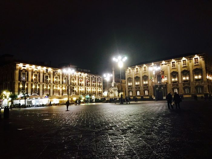 Piazza duomo catania Illuminated Night Built Structure Building Exterior Architecture City Sky Outdoors No People