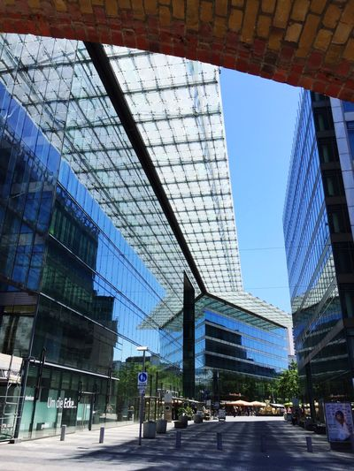 Am Kuhdamm in Berlin Spiegelung Ansicht Berlin Architecture Built Structure Building Exterior City Sky Incidental People Day Glass - Material Office Building Exterior Blue Travel Destinations Tree Tall - High Modern Nature Transportation Low Angle View Building Clear Sky Outdoors