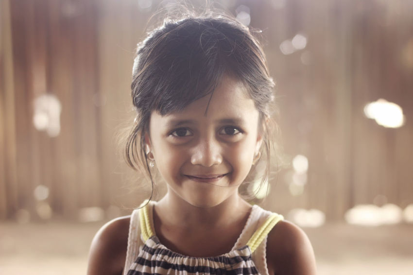 My Daughter Love Child Childhood Children Only Close-up Daughter Day Focus On Foreground Front View Girls Happiness Headshot Innocence Looking At Camera One Girl Only One Person Outdoors People Portrait Smiling