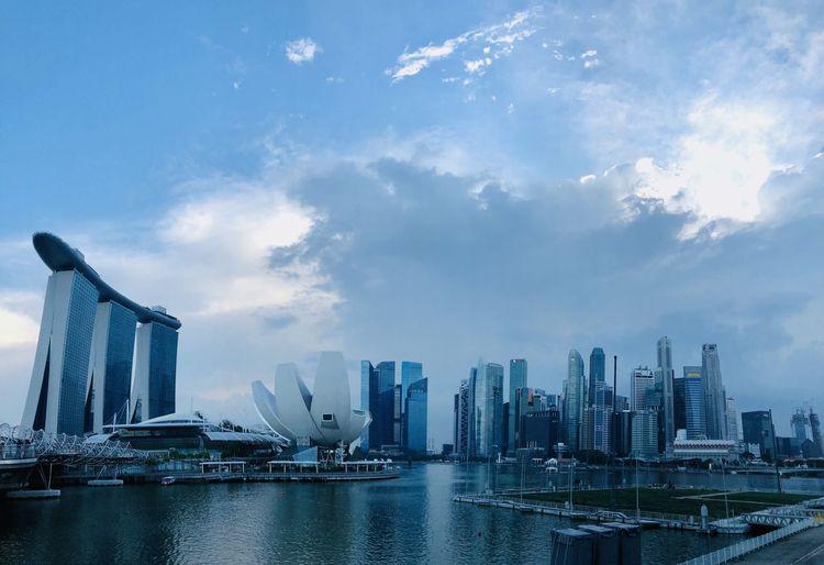 Singapore skyline under daylight