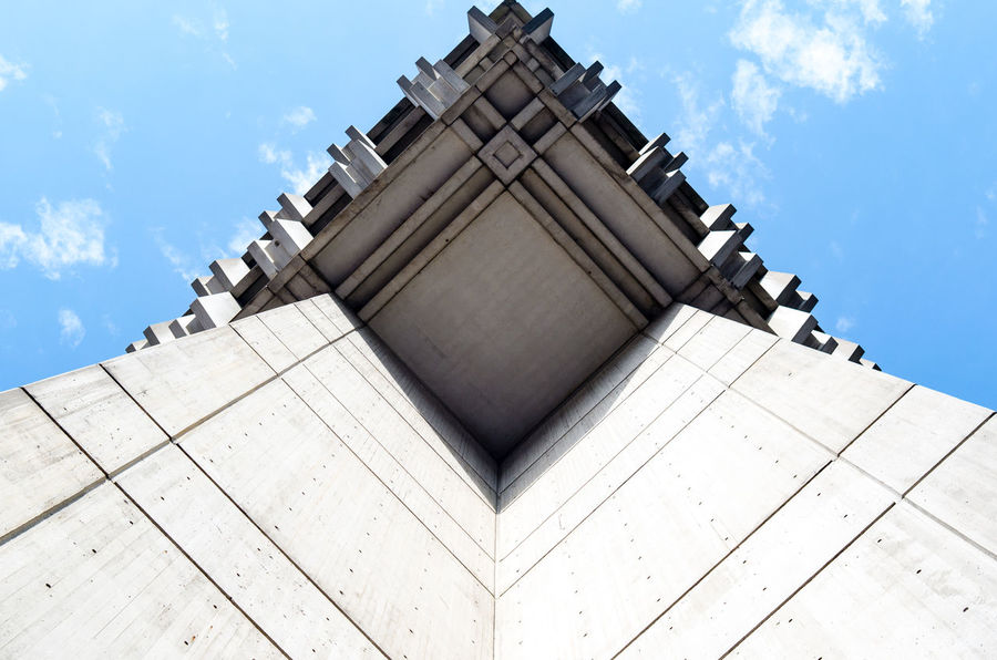 Architectural Feature Architecture Boston Brutalism Built Structure City Hall Geometry Low Angle View Dramatic Angles