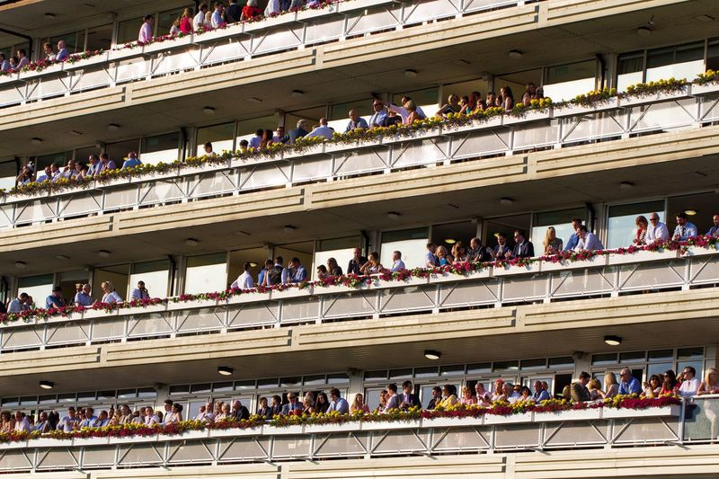 Full Frame View Of People At Grandstand