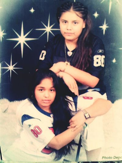 Tbt#6th grade#me(black)#mayda-homegurl(white)#how people really change(: