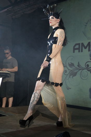 Beautiful Woman Day Fashion Fashion Show Goth Gothic Style Indoors  Lifestyles Mera Luna Festival Performance Posing Real People Young Adult Young Women