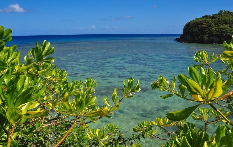 Agana Bay, Guam Sea Nature Tranquil Scene Water Tranquility Idyllic Outdoors Scenics Perspectives On Nature