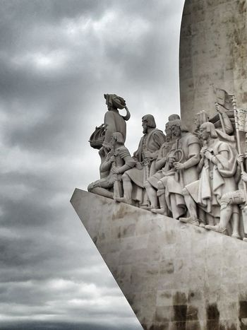Padrão Dos Descobrimentos Sculpture Low Angle View No People Sky Lisboa Portugal