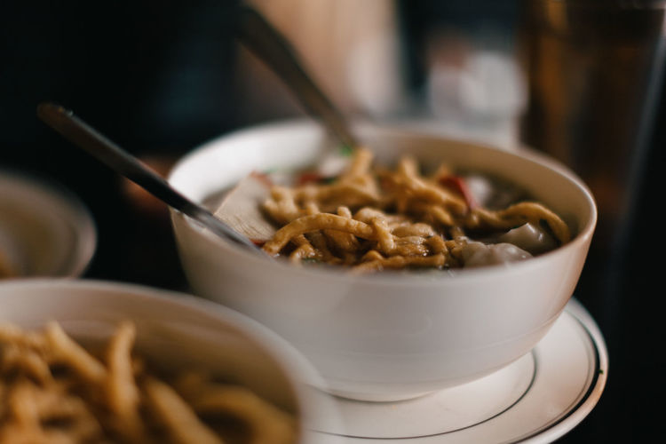Bowl of chinese soup.