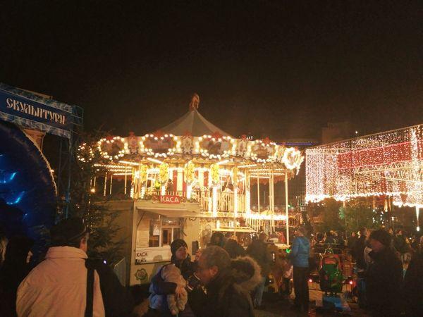 Night Arts Culture And Entertainment Illuminated Amusement Park Celebration Nightlife People