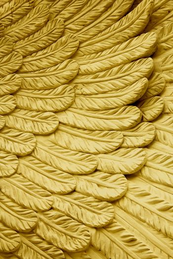 High angle view of ropes on bed