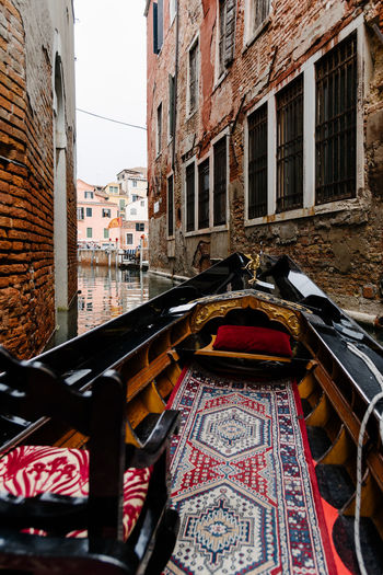 Venice Venice, Italy Built Structure Building Exterior Architecture Building Canal City Window No People Residential District Day Transportation Outdoors Mode Of Transportation Water Nature Low Angle View Balcony Travel Reflection