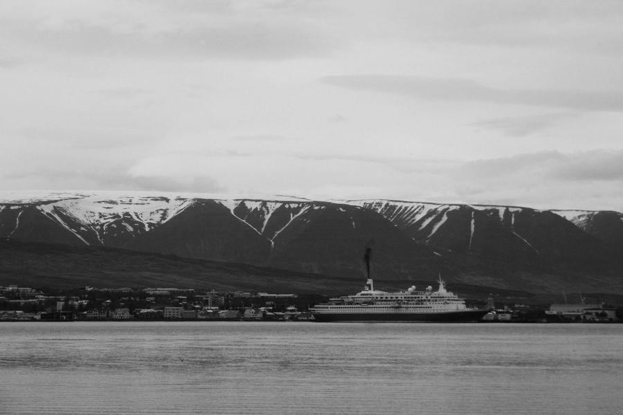 Beaty In Nature Blackandwhite Cruise Ship Mountain Range Port Scenics Town Tranquility