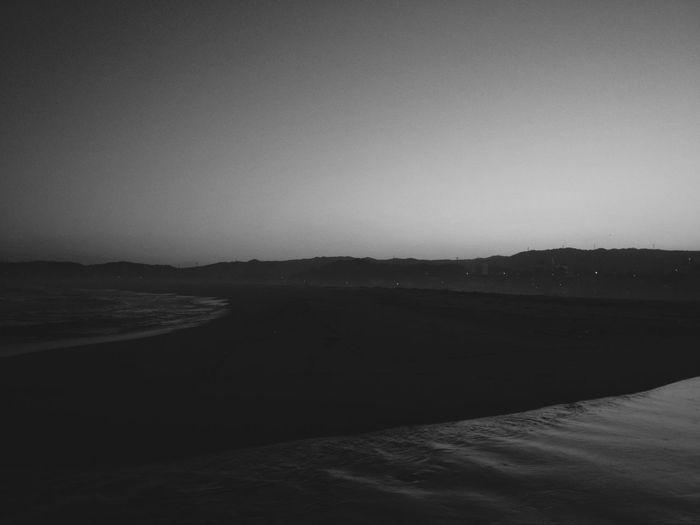 It's hazy at sundown in late late spring. EyeEm Best Shots - Black + White Monochrome Minimalism Vscocam