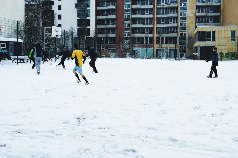 Can one call it Extreme Sports ? It looks Extremely Sporty to me:) Playing Football in the Snow Winter Games Showcase: January Berlin Mitte Youth Of Today