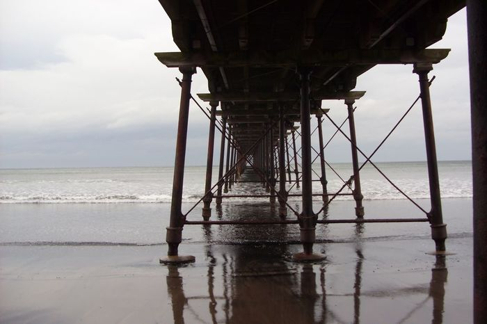 Under Saltburn Pier Pier