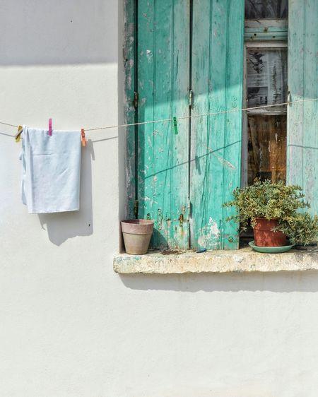 Greek traditional window