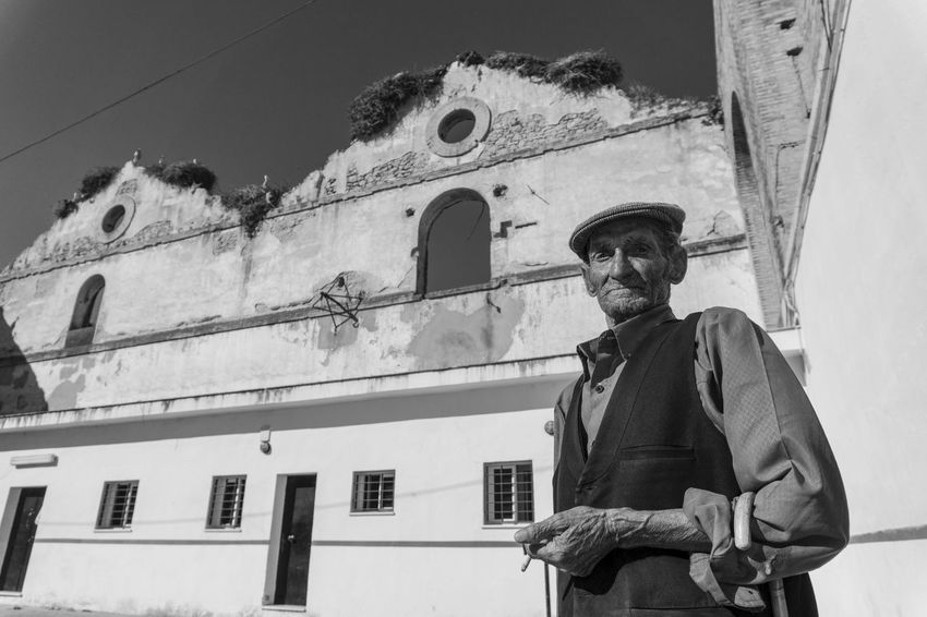 Andalucía Man Portrait Of A Woman Abandoned Architecture Built Structure Day Elderly Elderly Man Low Angle View Males  Old Man Portrait Old Ruin One Person Outdoors Real People Standing Storks Storks Nest The Portraitist - 2018 EyeEm Awards