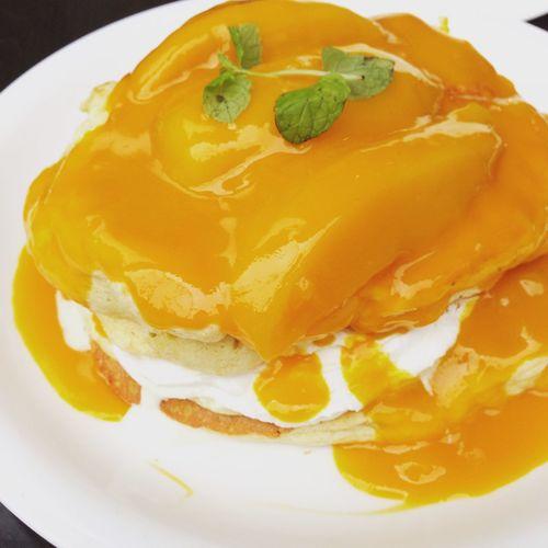 Pancakes Mango Lunch Yummy Happy Cafe