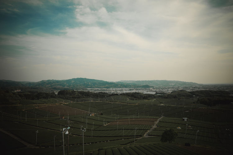 Green Japan Agriculture Beauty In Nature Cloud - Sky Day Field Greentea Landscape Mountain Nature No People Outdoors Rural Scene Scenics Sky Tranquil Scene Tranquility