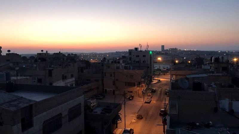 Sunrise Slum Cityscape Jordan