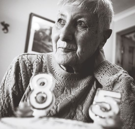 One Person Granny Real People Indoors  Close-up Human Hand Blackandwhite Older Generations Family Inverness Birthday FamilyLifestyles Leisure Activity Home Interior