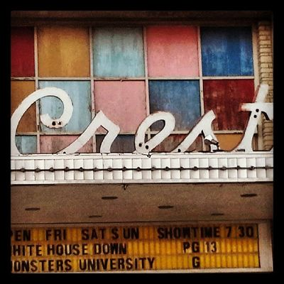 Theater Cinema Signage Typography Lettering Nebraska Superior Crest Marquee Patina_perfection Square_nio Rous_roadsigns Cinematreasures Signfixation Signstalkers Cresttheater