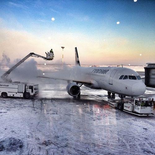 #helsinki #cold #finnair #airport #anti-freeze Jj_forum_0521 Anti Airplane Airport Cold Freezing Helsinki Aeroplane Finland Aircraft Subzero Finnair