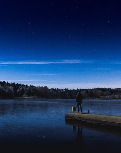 Good Night, Dear Friends! 💙🌌   Night Star - Space Astronomy Sky Beauty In Nature Nature Lake Scenics Silhouette Constellation Star Field Space Space And Astronomy Tranquil Scene Water Milky Way One Man Only Galaxy One Person Outdoors Selfie ✌ Self Portrait Man ThatsMe EyeEm Best Shots