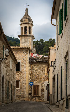 Mancor de la Vall, Mallorca Church Majorca Mallorca SPAIN Architecture Bell Tower Building Exterior Built Structure Day España No People Outdoors Place Of Worship Religion Sky Village