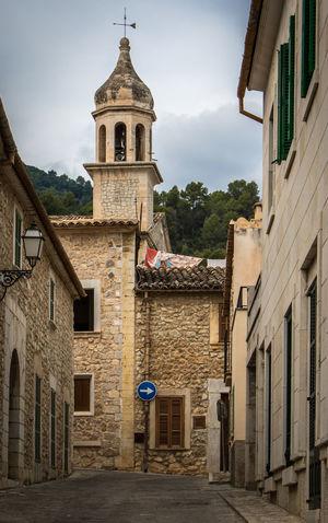 Mancor de la Vall, Mallorca Church Majorca Mallorca SPAIN Architecture Bell Tower Building Exterior Built Structure Day España No People Outdoors Place Of Worship Religion Sky Village