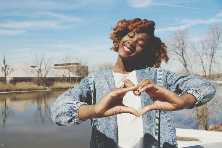Love is all we need. Love Nigerian Girls Smile Beautifulsky Encompassing BigHair Natural Beauty Naturalwomen