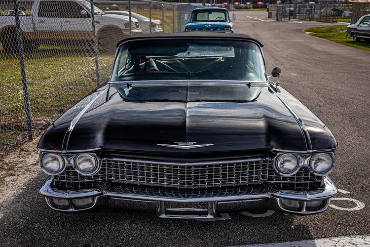 Old vintage car on road