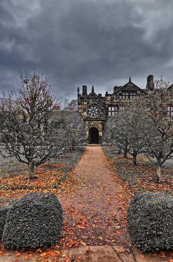 Historic building against sky during autumn
