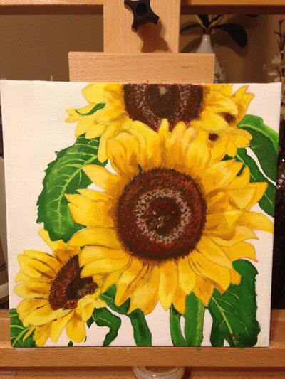 Catherine's farewell sunflower painting is finally done :)