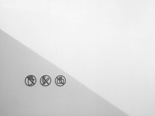 Sign Signs Warning Sign Wall Minimalism Light And Shadow Light Blackandwhite Black And White Black & White Blackandwhite Photography Monochrome Quiet Moments