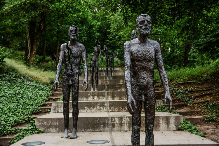 Architecture Art And Craft Creativity Day Full Length Growth Human Representation Male Likeness Nature Outdoors Park Park - Man Made Space Plant Representation Sculpture Staircase Statue Tree Walking Young Adult